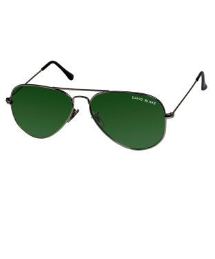 David Blake Green Aviator UV Protected Sunglass