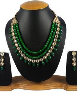 Aradhya Stone Jewel Set (Green, Gold)