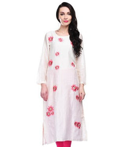 SAMANT CHAUHAN Cream Long Kurta