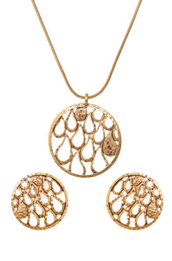 BAUBLE BURST Carved Antique Pendant Set