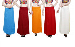 MY TRUST Cotton Multi Color Color Saree Petticoats $ PE-17