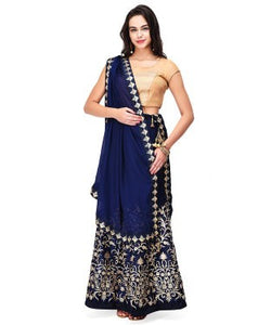 Satin Lehenga Choli and Dupatta