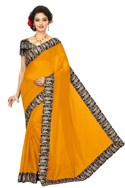 16to60trendz Yellow Chanderi Lace Work Chanderi Saree $ SVT00069