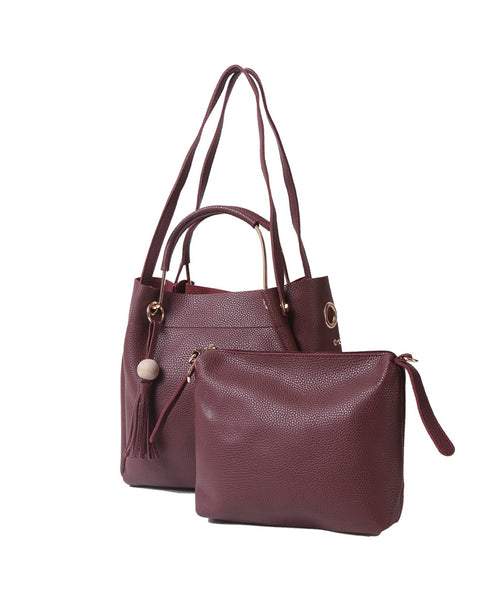 Fiona Trends Maroon PU Shoulder Bag,612_MAROON