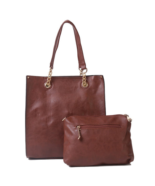 Fiona Trends Coffee PU Shoulder Bag,6001_COFFEE