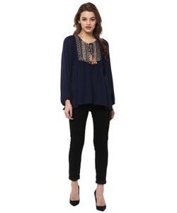 Miway Rayon Crepe Solid top