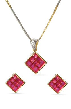 Crystal Cube Pendant Set - JBBDPES1414