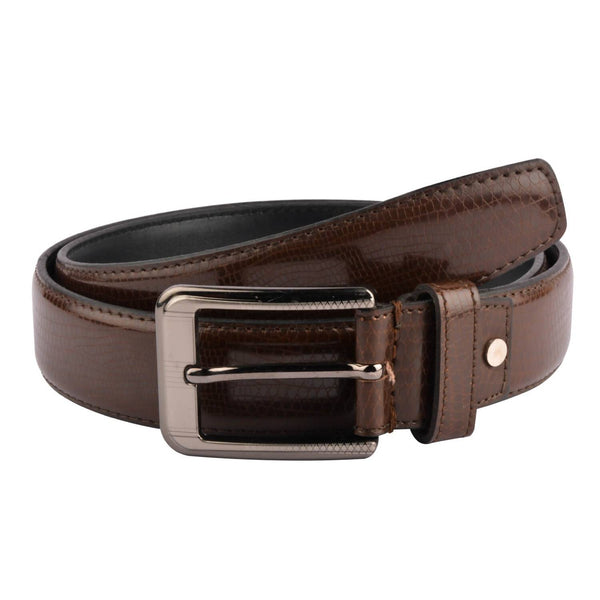 Baluchi's Brown Textured Semi Formal Men's Belt $ BLC_PMBR_10