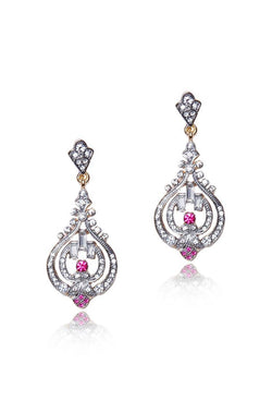 Silver Petal Earrings - JIGAEAR4311