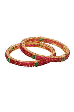 Bauble Burst Paved Beads Bangle Set