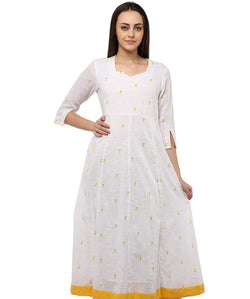 WHITE COLOR COTTON HOMA KURTIS
