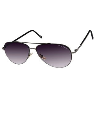 David Blake Purple Aviator Gradient, UV Protected, Mirrored Sunglass