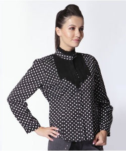 Trendy Diva Black And White F/S Shirt