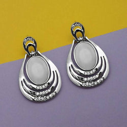 Tanishka Fashion Resin And Austrian Stone Silver Plated Dangler Earrings $ 1315402