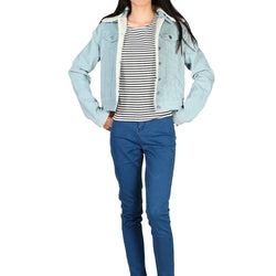 London Rag Women's Blue Jacket-CL7096