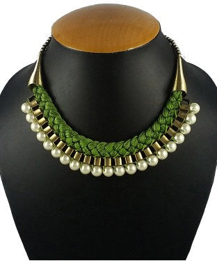 Aradhya Pearl Metal Necklace