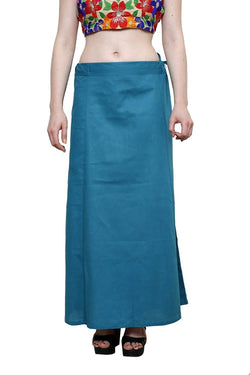 MY TRUST Cotton Indigo Color Saree Petticoats $ PT-16