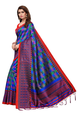 16to60trendz MultiColor Art Silk Printed Mysore Art Silk Saree $ SVT00205