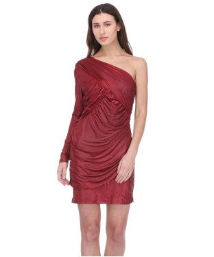 BCBG ONE SHOULDER SHORT DRESS