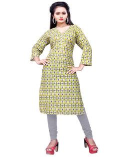 Muta Fashions Women's Stitched Polyster Cotton Multicolor Kurti $ KURTI414