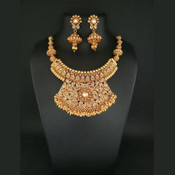 Tanishka Fashions Stone Copper Necklace Set