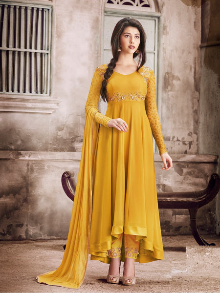 YOYO Fashion Latest Faux Georgette Party Wear Anarkali Salwar Kameez - F1135