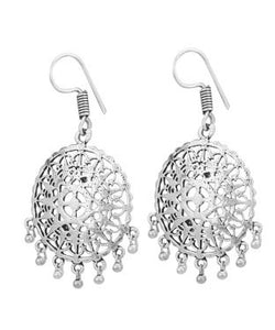 Aradhya Silver Chandbali Earring, Drop Earring, Hoop Earring, Dangle Earring