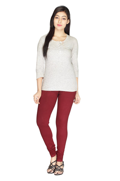 Minu   Premium Maroon  womens  Leggings $ PL_03