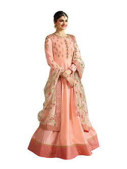 YOYO Fashion Designer Chennai Silk  Semi-stitched Fancy Party Wear Anarkali Salwar Suit $ F1212