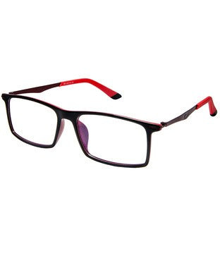 Cardon Black In Red Rectangular Full Rim EyeFrame