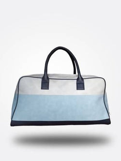 Strutt Unisex White, Blue and Dark Blue Duffel Bag $ SMD527