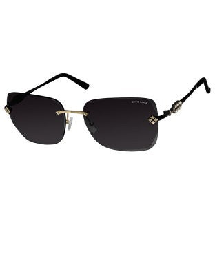 David Blake Black Oversized UV Protected, Mirrored Sunglass