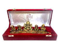 Gold Plated Musical Ganesha God Idol With Velvet Box Packing Exclusive Gift For Diwali Gift, Corporate Gift And Wedding Return Gifts $ IGSPBR1091