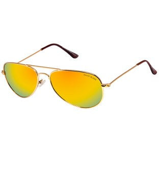 David Blake Yellow Aviator Mirrored Polarized Sunglass