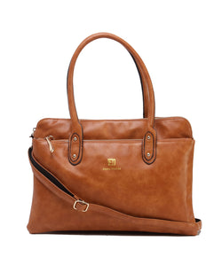 Fiona Trends Tan PU Shoulder Bag,101_TAN