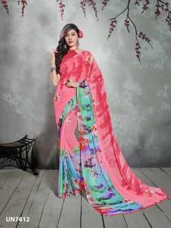 Umang NX Multi Digital Designer Digital Printed Sarees $ UN7412