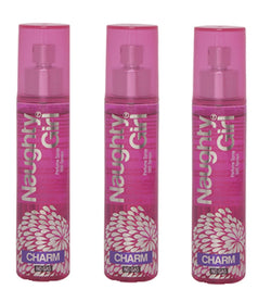 Naughty Girl CHARM Perfume Spray for Women- Pack of 3 (60ml each)