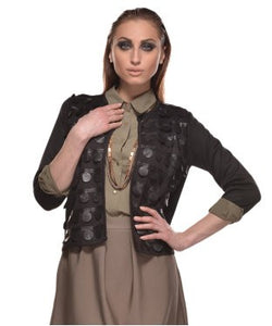 Glam A Gal Black 3/4 Open Jacket