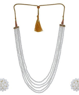 Aradhya Alloy Jewel Set (White)