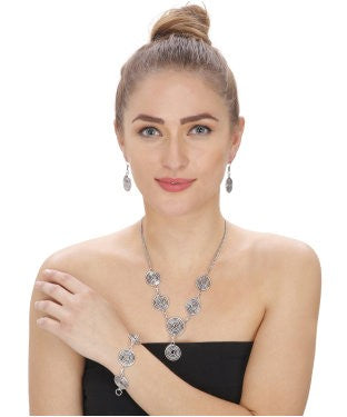 Aradhya Alloy Jewel Set (Silver)