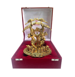 Gold Plated Radha Krishna God Idol with Velvet Box Exclusive Gift for Diwali Gift, Corporate Gift and Wedding Return Gifts $ IGSPBR1099