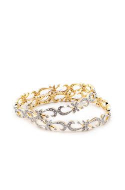 Bauble Burst Leaf Vine Bangles Set of 2