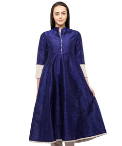 BLUE COLOR SILK HOMA KURTIS