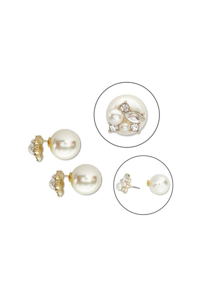 Bauble Burst Pearl Bomb Double Ear Studs