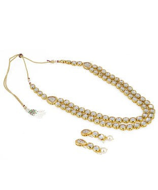 aradhya Alloy, Metal Jewel Set (Gold)