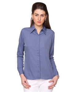 Bedazzle Greyish Blue F/S Shirt
