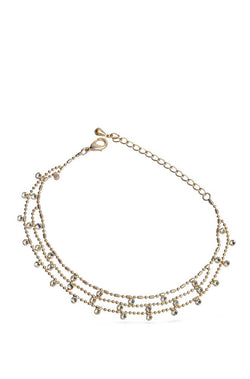 Silver Chimes Anklet - JIQUANK4346