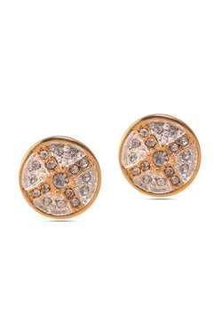 Bauble Burst Circle Of Glitter Studs