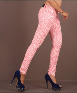 Radrags Pink And White Jeggings