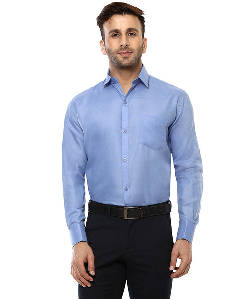 Lee Marc Full Sleeve Lm Dark Blue Formal Shirt